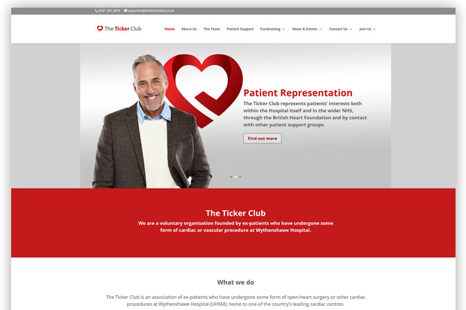 The Ticker Club Website Design and Build